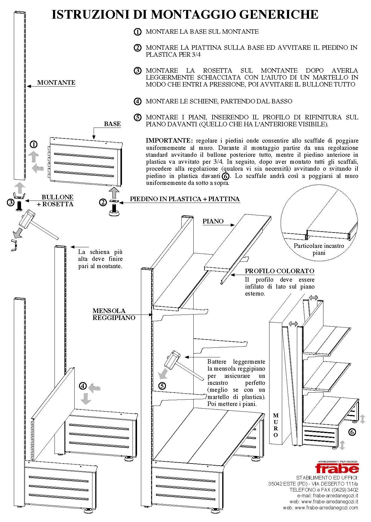 ISTRUZIONI DI MONTAGGIO GENERICHE1